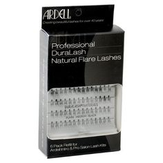 Ardell False Eyelashes 6 pack DuraLash Naturals Medium Black Individual Lashes by Ardell. $18.99. They're so natural you forget they're not your own, and they can be worn for up to 6 weeks at a time.. DuraLash individual lashes are the closest thing to natural lashes ever developed.. One DuraLash package contains 56 lashes. These exclusive knot-free individual lashes are permanently curled, waterproof, easy to apply, and comfortable to wear.. 6 Packs of Individ...