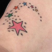 Shooting star for nephew and little stars for other family, but want the star color to fade a little in middle