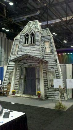 Haunted House Facade at a trade fair