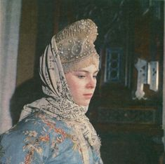 """Kostroma """"collection"""", embroidered with pearls, a pearl podnizyu. Moscow, the House-Museum of Stanislavsky."""