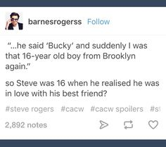 Oh my god I'm crying  Steve Rogers and Bucky Barnes