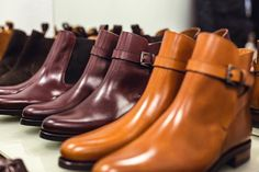 http://chicerman.com  skolyx:  Part of our stock collection for women lined up. Chelsea boots in burgundy leather dark brown suede and light brown suede. Jodphur boots in light brown leather and burgundy leather. All models with Vibram rubber sole. #skolyx #womensshoes #womensweae #classicshoes #shoes #shoestagram #shoeporn #mensfashion #shoecare #saphir #yanko #women #jodphur #chelsea #goodyear  #menshoes