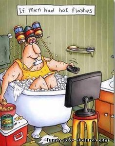 Funny If Men Had Hot Flashes Cartoon