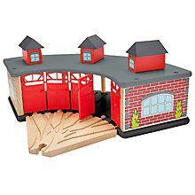Buy John Lewis Train Set Wooden Engine Shed Online at johnlewis.com