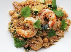 Harissa Quinoa with Shrimp and Chickpeas