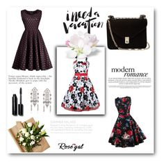 """Rosegal 47/II"" by nermina-okanovic ❤ liked on Polyvore featuring Valentino, Bobbi Brown Cosmetics, vintage and rosegal"