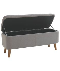 Buy Habitat Jacobs Grey Upholstered Storage Bench at Argos.co.uk - Your Online Shop for Ottomans.