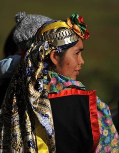 South America: A Mapuche woman walks in the little town of Temucuicui, Temuco, Chile, Photographer unknown