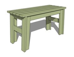 Learn How to Build a Bench with These Free DIY Woodworking Plans: Simple Furniture Designs' Free Bench Plan
