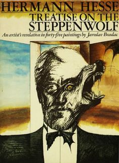 """""""Steppenwolf"""" is a poetical self-portrait of a man who felt himself to be… Book Club Books, Book Art, Glass Bead Game, Nobel Prize In Literature, Hermann Hesse, Rich Image, Cover Art, Storytelling, Classic Books"""