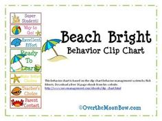 This beach themed behavior chart is based on the clip chart behavior management system by Rick Morris, and features a bright color scheme. Download a free 36 page ebook from his website.
