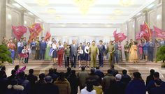 여러 나라 대사관 문화 및 친선관계일군들 청년운동사적관 참관