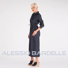 Let the denim talk for you. How #amazing @alessandra_bergomi #looks in her perfect suit #jeans? #AlessioBardelle #ss17