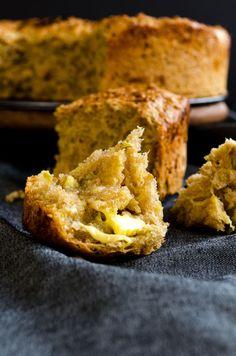 Fluffy zucchini bread. Spread a little butter when it's still warm | giverecipe.com | #bread #baking #zucchini