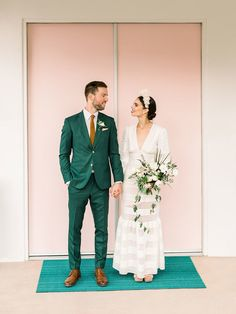 A Palm Springs wedding at a mid-century home - 100 Layer Cake Dream Wedding Dresses, Wedding Gowns, Traditional Wedding Dresses, Nontraditional Wedding, Mid Century House, Wedding Portraits, Wedding Photos, Wedding Vendors, Palm Springs