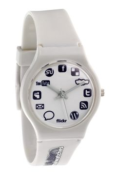 Normal Watches' Social Networking watch is ideal for those who fritter away their free time checking for updates and friend requests; Social Media Services, Social Networks, Social Media Marketing, Swatch, Blogging, Visual Metaphor, Geek Gadgets, La Red, Mode Style