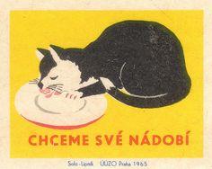 Vintage Czech matchbox label (1965)