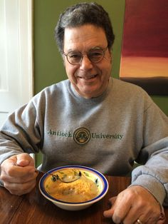Grateful John's dental procedure went well today and glad he is enjoying some homemade bean soup.