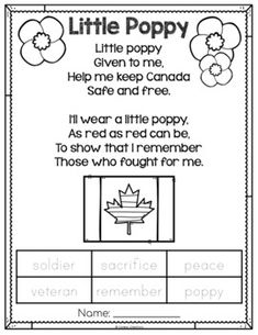 Use this poem and accompanying poppy craft as an introduction to Remembrance Day. Students trace thought-provoking vocabulary words and complete the craft with bing dabbers or fingerprints. Remembrance Day Posters, Remembrance Day Activities, Remembrance Day Poppy, Pet Names For Boyfriend, Kindergarten Poems, Halloween Poems, Poppy Craft, Holocaust Books, Remembrance Day