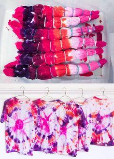 Tie-Dye Shirt Birthday Party Favors - white house black shutters to tie dye shirts Tye Dye, Fête Tie Dye, Moda Tie Dye, Tie Dye Party, How To Tie Dye, Tie Dye Tips, Diy Tie Dye Shirts, Diy Shirt, Diy Tank