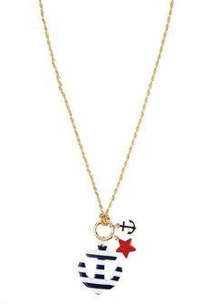 Long Stripe Anchor Necklace - View All Accessories - Accessories - dELiA*s