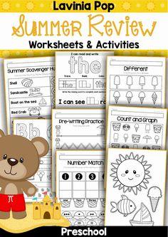 Preschool Worksheets - Summer Review