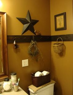 Love this instead of chair rail for my bathroom!