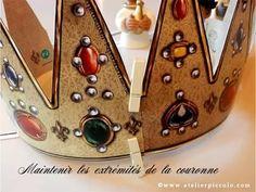 Atelier Piccolo : Recette galette des Rois et Fabrication de la Couronne... Wreath Making, Atelier