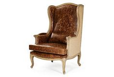Leon Wingback Leather Chair