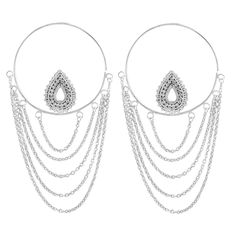 Deity earrings are white gold-plated and come in three post sizes. Shop high quality traditional & large gauge earrings at Buddha Jewelry Organics. Buddha Jewelry, Body Jewelry, Hanging Earrings, Hoop Earrings, Silver Earrings, Pearl Necklace, Lingerie Accessories, Deities, Ear Piercings