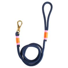 Hudson Dog Leash in Navy & Sorbet.