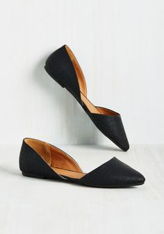 a34c53fefa8 Essential Edge Flat in Black. Who says minimalist flats cant sport a little  spice