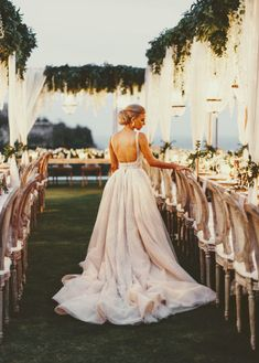 {Hannah Polites Ties the Knot in STUNNING Bali Affair Design Planning : Luxury Furniture Rentals: Wedding Gowns: Cinematography: bridalgown bridal weddingdress weddinggown beautifulbride weddingdressinspiration weddinginspiration realwedding Wedding Decor, Long Table Wedding, Bali Wedding, Luxury Wedding Dress, Wedding Beauty, Rustic Wedding, Dream Wedding, Wedding Ideas, Garden Wedding