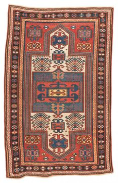 Fachralo Kazak  184 x 117 cm (6ft. x 3ft. 10in.) Caucasus End 19th century