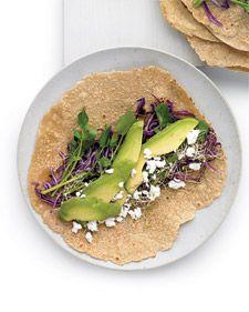 Avocado, Feta, and Cabbage Wrap
