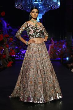 Onion pink lehenga by Manish Malhotra on thedelhibride.com Amazon India Couture Week 2015