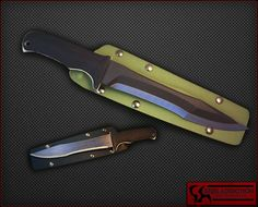 Warren Thomas Special OPS Bowie Proto Type Chisel Ground Carbon Fiber And Anodized Titanium