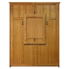 Full size Park City style Murphy Bed in Oak wood with Aurora Splendor finish and…