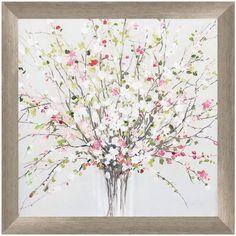 Ophelia & Co. 'Spring Bouquet' Framed Print on Glass Frame Wall Decor, Frames On Wall, Framed Wall Art, Framed Prints, Painting Frames, Painting Prints, Watercolor Paintings, Art Prints, Watercolor Pictures