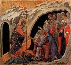 Descenso de Cristo a los Infiernos, Duccio di Buoninsegna, h1308-11, Siena, Museo de la Opera del Duomo