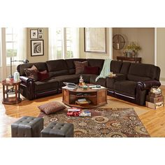 Living Room Furniture - Prescott 4 Pc. Power Reclining Sectional  sc 1 st  Pinterest : st malo sectional - Sectionals, Sofas & Couches