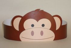 Create your own Monkey Crown! Print, cut & glue your monkey crown together & adjust to fit anyones head! Diy For Kids, Crafts For Kids, Crown Printable, Monkey Mask, Monkey Crafts, Girls Crown, Paper Crowns, Mask Template, Art N Craft