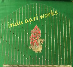Aari Work Blouse, Hand Embroidery Design Patterns, Simple Designs, Outline, Pattern Design, It Works, Stitch, Jacket, Simple Drawings