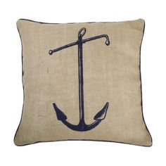 We love the nautically inspired Seafarer Pillows by Thomas Paul; made of 100 percent jute with down/feather inserts. Above: Thomas Paul Seafarer Moby Pillo Nautical Baby Nursery, Nautical Pillows, Nautical Home, Nautical Style, Nautical Anchor, Nautical Bedroom, Nursery Boy, Navy Anchor, Anchor Print