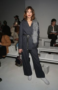 I  love Alexa Chung!!! at the Noon By Noor fashion show during, New York Fashion Week: The Shows at Gallery 3, Skylight Clarkson Sq on February 9, 2017