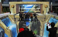 A great place for photo op with your friends. 3D Street Art
