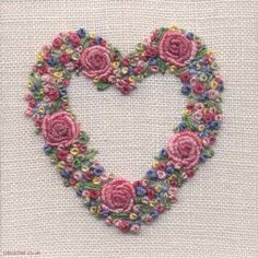 Embroidery Thread Ideas among Embroidery Patterns Christian. Embroidery Designs Oesd soon Embroidery Hoop Png toward Applique Embroidery Near Me Embroidery Hearts, Silk Ribbon Embroidery, Rose Embroidery, Vintage Embroidery, Embroidery Kits, Embroidery Needles, Garden Embroidery, Embroidery Tattoo, Brazilian Embroidery Stitches