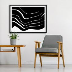 Organic 10 Black and White | Modern line and shape art in a minimalistic style for midcentury, scandinavian and contemporary interiors. Framed or unframed, canvas, wood and metal #prints also available. #abstract #drawing #modern #simple #aesthetic Art Prints, Minimalist Design, Design, Shape Art, Wall Art, Art, Black And White