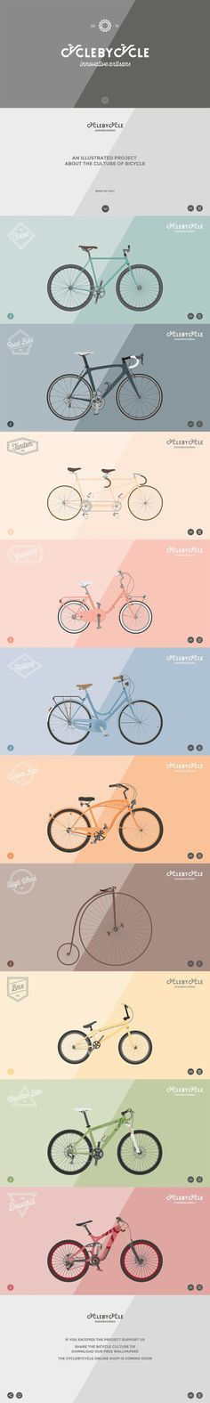 CycleByCycle. What's your favorite? (More design inspiration at www.aldenchong.com):