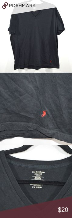 Polo by Ralph Lauren V-Neck T-Shirt 2XL Black Polo by Ralph Lauren V-Neck Shirt  Excellent shirt  Comes from a smoke-free household  Black with a Red Pony logo  The size is XL and the measurements are 23 inches underarm to underarm and 28 inches top to bottom  Cotton  Check out my other items for sale!  GrayTub Polo by Ralph Lauren Shirts Tees - Short Sleeve